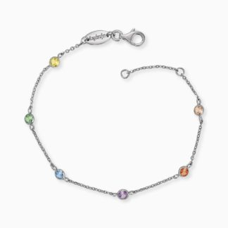 Armband Moonlight Silber mit Zirkonia Multicolor