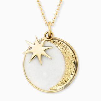 Engelsrufer Kette, Sonne, Mond&Stern gold