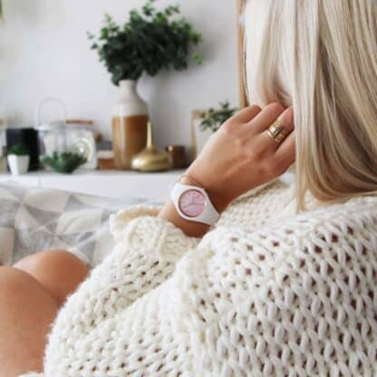 Ice Watch Damenuhr ICE Pearl white pink M