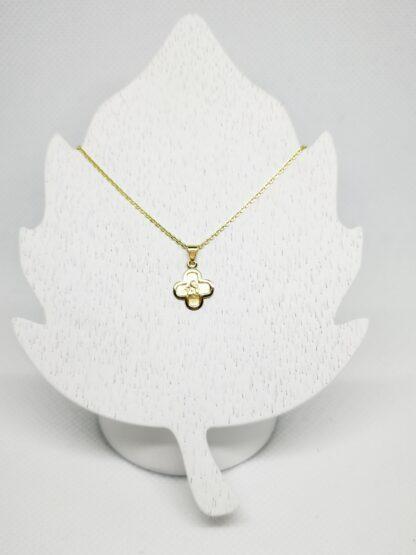 Goldkette mit Schutzengel Anhänger Taufkette Kreuz