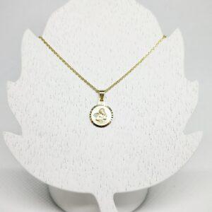 Goldkette mit Schutzengel Anhänger Taufkette klassisch
