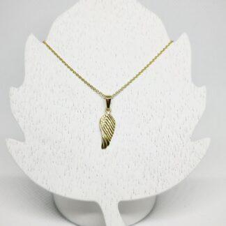 Goldkette mit Engelsflügel Taufkette