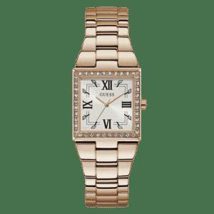 GUESS Damen Armbanduhr eckig roségold