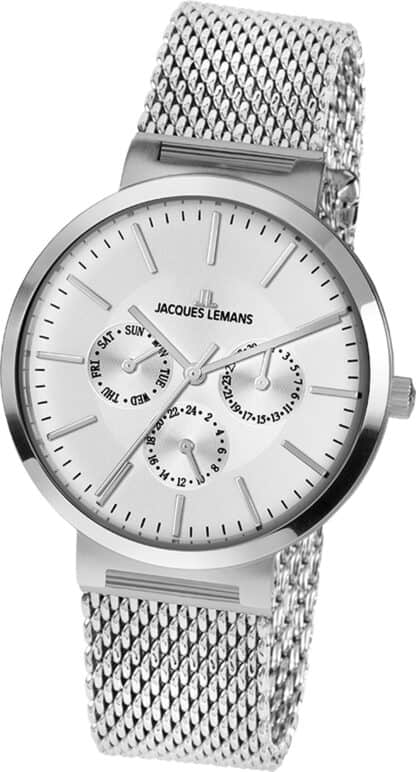 Jacques Lemans Multifunktion Milano silber